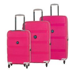 BG Berlin ZIP2 S,M,L Pop Pink – sada 3 kufrů