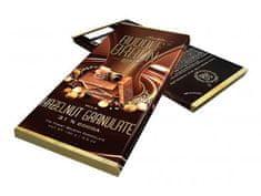 Rudolf Braun Belgická mléčná čokoláda s kousky lískových oříšků 31% kakaa 100g
