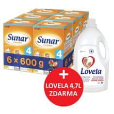 Sunar kojenecké mléko Complex 4 jahoda - 6 x 600g