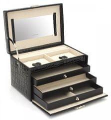 Friedrich Lederwaren Pudełko na biżuterię czarny / beżowy Jolie 23254-20