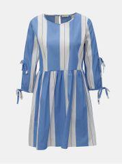 Rich & Royal bílo-modré pruhované šaty