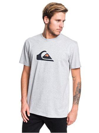 Quiksilver Pánské triko Comp Logo Ss Athletic Heather EQYZT05486-SGRH (Velikost M)