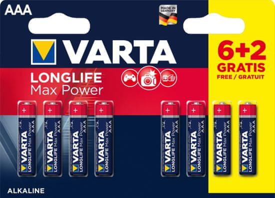 Varta Baterie Longlife Max Power 6+2 AAA 4703101448