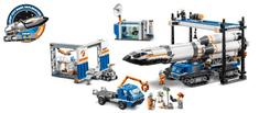 LEGO transport i montaż rakiety kosmicznej City