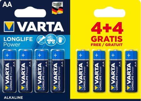 Varta Longlife Power elem 4+4 AA 4906121448
