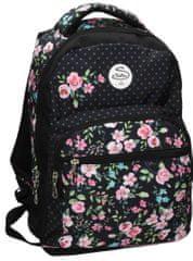 Street školski ruksak Round Flowers, motiv cvijeća