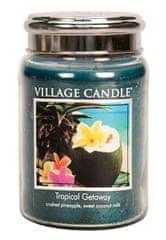 Village Candle Vonná sviečka v skle Víkend v trópoch (Tropical Getaway) 645 g