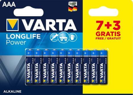 Varta baterie alkaliczne Longlife Power 7+3 AAA 4903121470