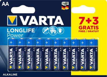 Varta Baterie Longlife Power 7+3 AA 4906121470
