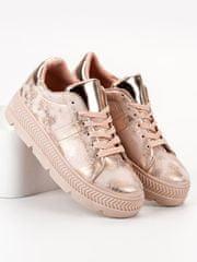 BESTELLE Sportovní boty na platformě rose gold