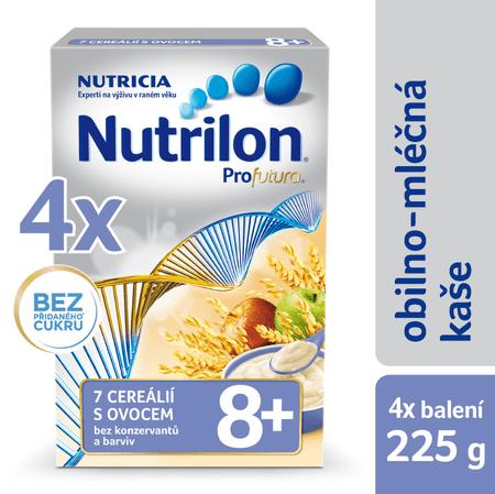 Nutrilon Mléčná kaše 7 cereálií s ovocem - 4 x 225g