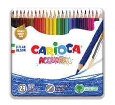 Carioca akvarelne barvice haxagonalne 1/24 + čopič