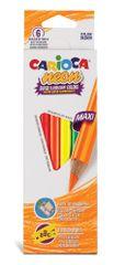 Carioca trikotne neon barvice 1/6, tanke
