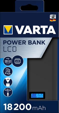 Varta LCD Power Bank, 18200 mAh (57972101111)