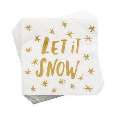 """Butlers APRÉS Papírové ubrousky """"Let it Snow"""""""