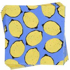 Butlers APRÈS Papírové ubrousky citróny 20 ks