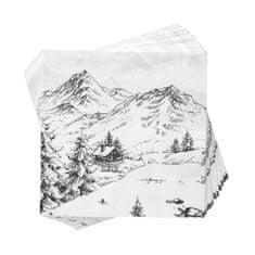 Butlers APRÈS Papírové ubrousky Alpy