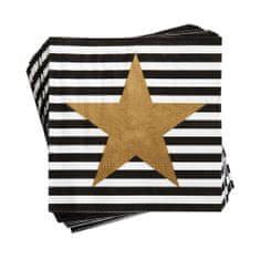 Butlers APRÈS Papírové ubrousky hvězda 20 ks