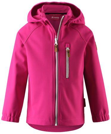 Reima detská softshellová bunda Vantti 122 ružová