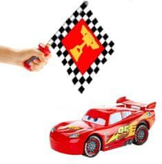 Mattel Cars Blesk McQueen s interaktívnou vlajkou