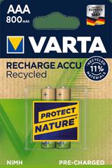 Varta akumulatory Recycled 2 AAA 800 mAh R2U 56813101402