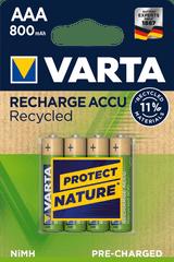 Varta Nabíjecí baterie Recycled 4 AAA 800 mAh R2U 56813101404