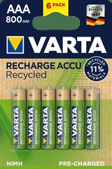Varta Nabíjecí baterie Recycled 6 AAA 800 mAh R2U 56813101436