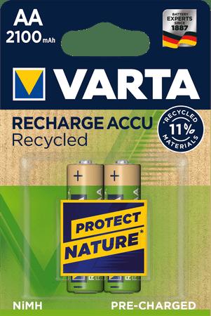 Varta Nabíjecí baterie Recycled 2 AA 2100 mAh R2U 56816101402