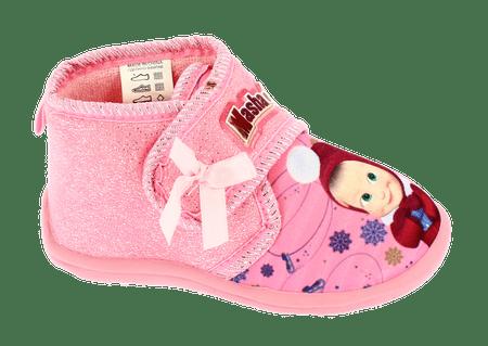 Disney by Arnetta dievčenské papučky Máša a medveď 27 ružové