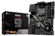 MSI X570-A PRO, DDR4, USB 3.1 Gen2, AM4, ATX osnovna plošča