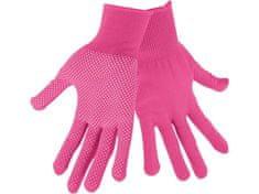 """Extol Lady Rukavice z polyesteru s PVC terčíky na dlani, velikost 7"""""""