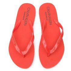 Calvin Klein Pantofle KW0KW00395-659 oranžová - Calvin Klein