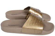 Emporio Armani Pantofle X3PS02 zlatá - Emporio Armani + dárek zdarma