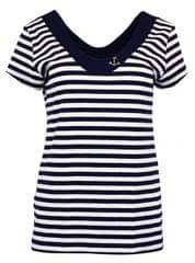 Favab Dámské tričko Průžok Cajana KR SW Kotva - modrobílá - Favab