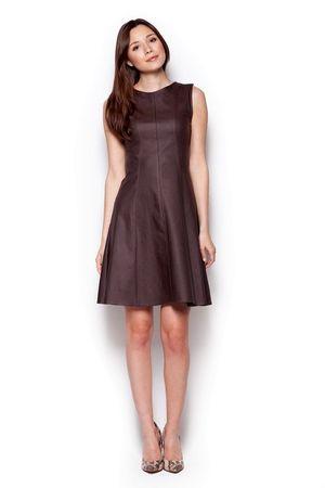 Figl Dámské šaty M342 brown hnědá M + dárek zdarma