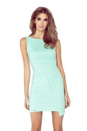 Morimia Dámské šaty 004-3 světle zelená XXL + dárek zdarma