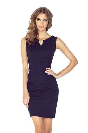 Morimia Dámské šaty 005-2 tmavě modrá L + dárek zdarma