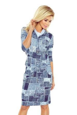 Numoco Dámské šaty 44-17 světle modrá džínovina XS