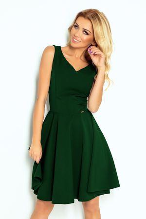 Numoco Dámské šaty 114-10 zelená M + dárek zdarma