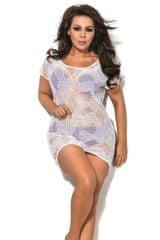 Ava Plážové šaty SP1 plus white + dárek zdarma