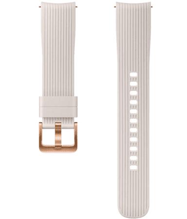 Samsung Galaxy Watch silikonski pašček, 42 mm, srebrn (105087)