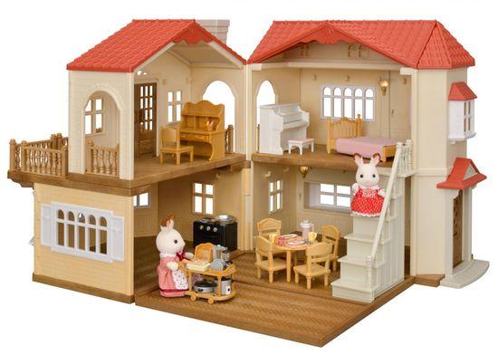Sylvanian Families Darčekový set - Poschodový dom s červenou strechou A