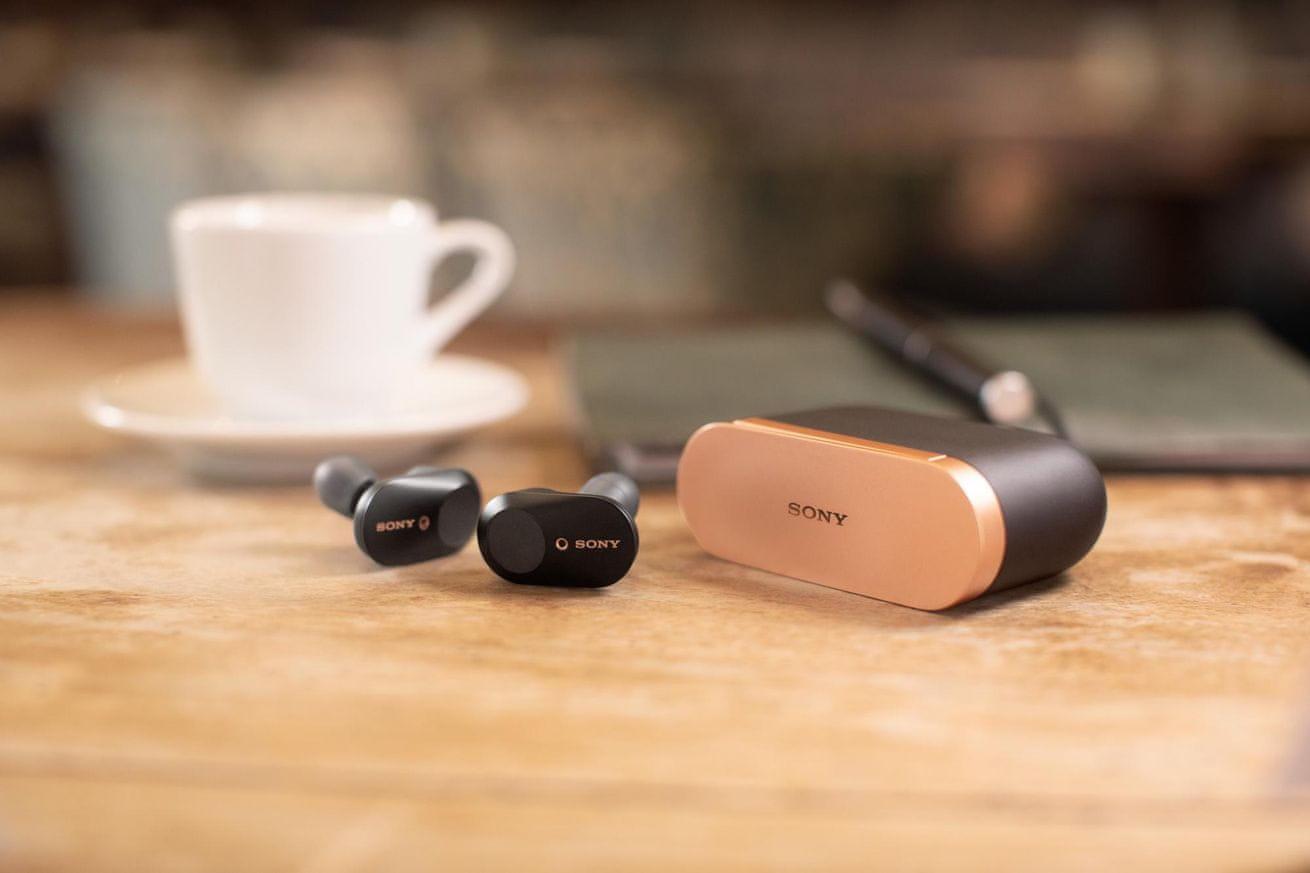 Bezdrátová sluchátka Sony WF-1000XM3 magnetické nabíjecí pouzdro USB-C