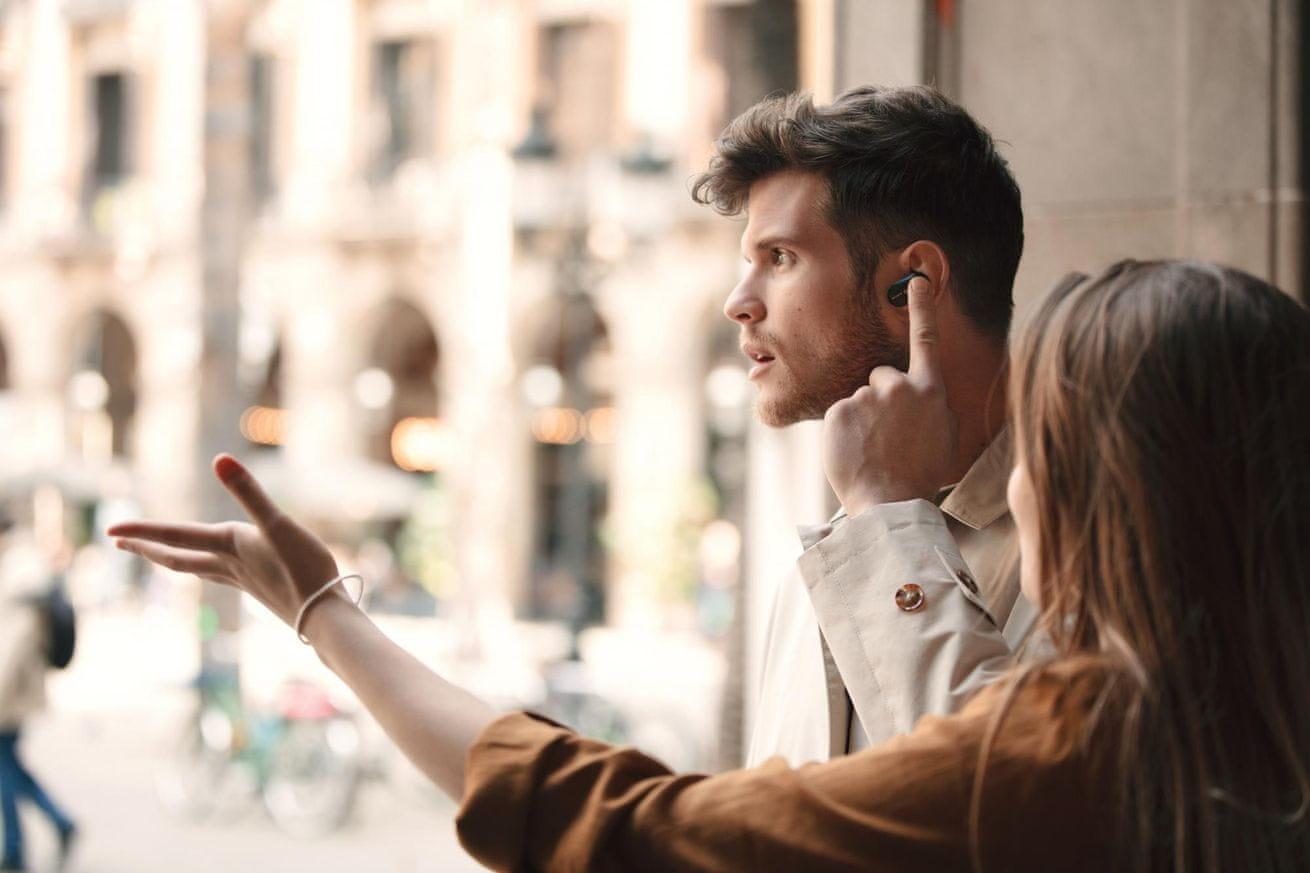 bezdrátová sluchátka Sony WF-1000XM3 quick attention dotykové ovládání