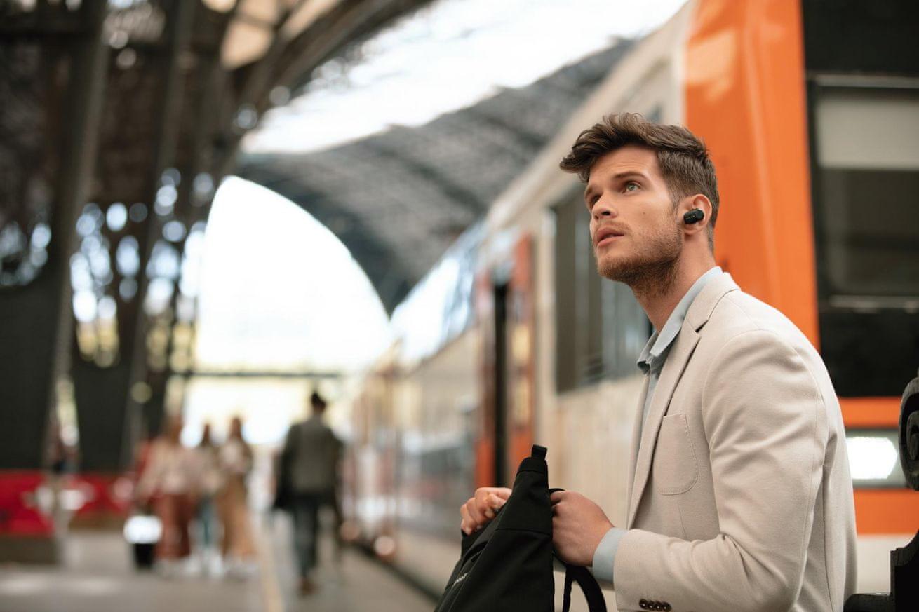 Bezdrátová sluchátka Sony WF-1000XM3 adaptivní nastavení zvuku