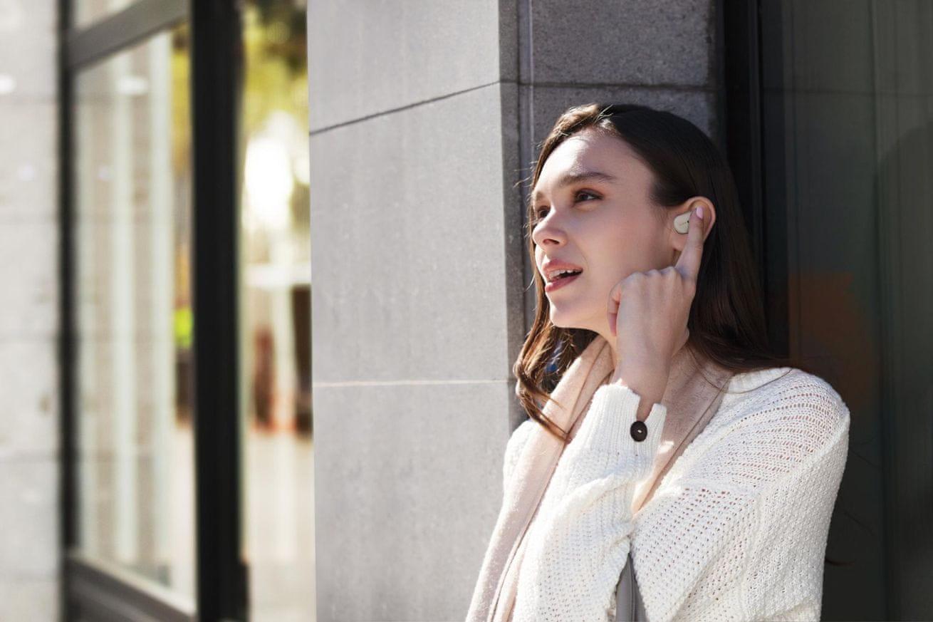 Bezdrátová sluchátka Sony WF-1000XM3 mikrofon hands-free handsfree