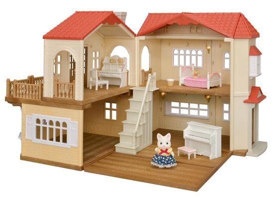 Sylvanian Families Dárkový set - Patrový dům s červenou střechou B