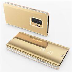 etui Onasi Clear View za Samsung Galaxy A20e A202, zlatna