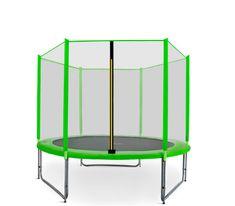 Aga Sport Pro Trampolina ogrodowa 250cm 8ft z siatką zewnętrzną - Light Green