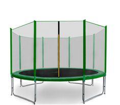 Aga Sport Pro Trampolina ogrodowa 366cm 12ft z siatką zewnętrzną - Dark Green